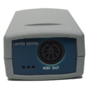 Imagen del Conversor DIN USB MIDI & Tarjeta de Host USB - Dispositivo MIDI - Lado con conector de salida MIDI