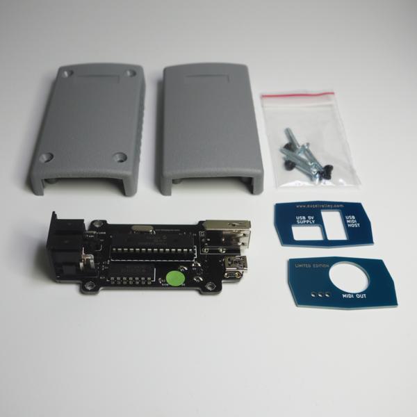 Imagen del Conversor DIN USB MIDI & Tarjeta de Host USB - Dispositivo MIDI - PCB con Carcasa