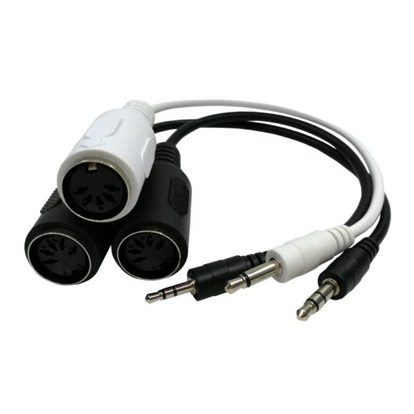 Mini Plug TRS TS naar MIDI DIN Adapter kabels