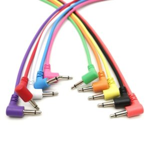 "Cables Mono Modulares de Ángulo Recto - TS 3,5mm 1/8"" - 10 Pack"