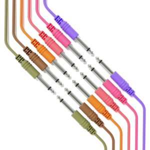 "6B-Pack - Câble de Guitare Instrument Mono - Raccordement Conduite TS 6,35mm 1/4"""