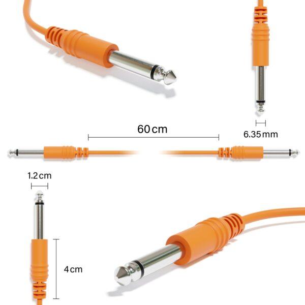 "6B-Pack - Mono Instrument Gitaar Kabel - Patch Draad TS 6,35mm 1/4"""