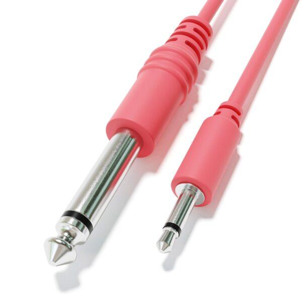 """1-Pack - Câbles Mono Patch - TS 3,5mm 1/8"""" à 6,35mm 1/4"""" Eurorack Synth CV Porte [Pêche]"""